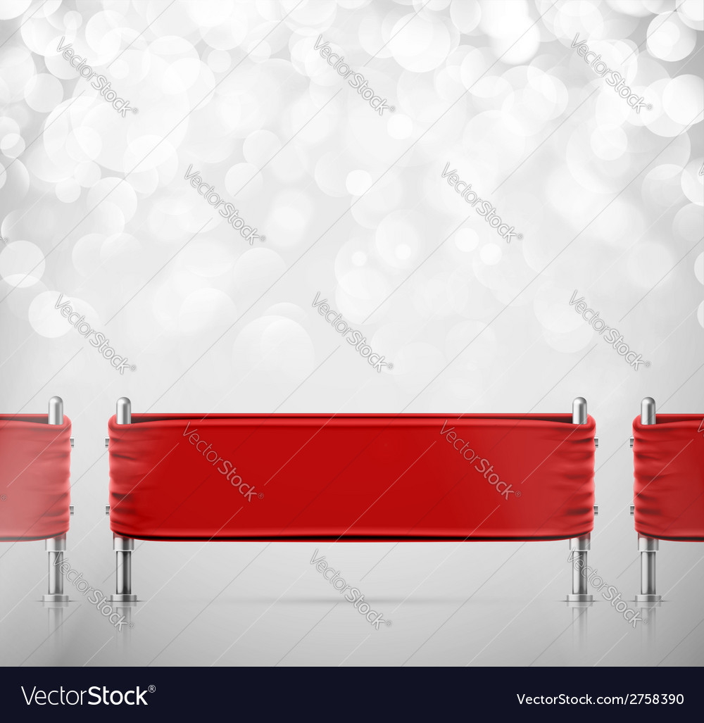 Stanchions barrier vector
