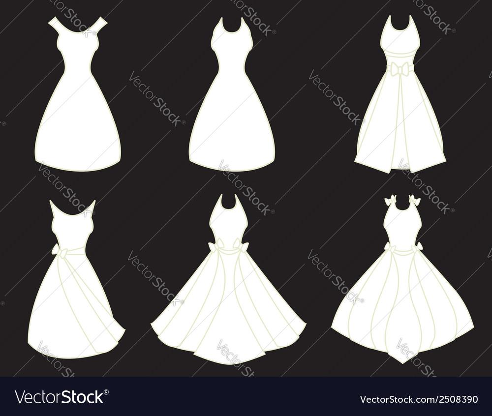 White dresses vector | Price: 1 Credit (USD $1)