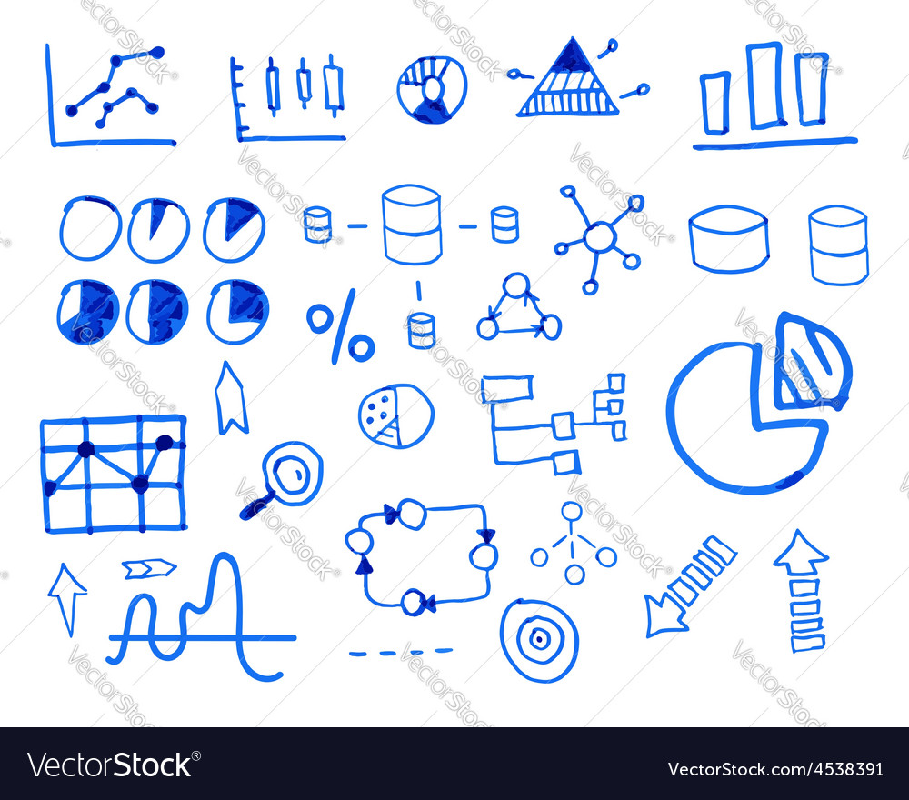 Business finance doodle hand drawn sketched vector   Price: 1 Credit (USD $1)