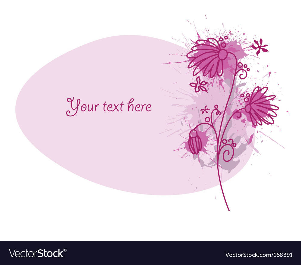 Flower vignette vector | Price: 1 Credit (USD $1)