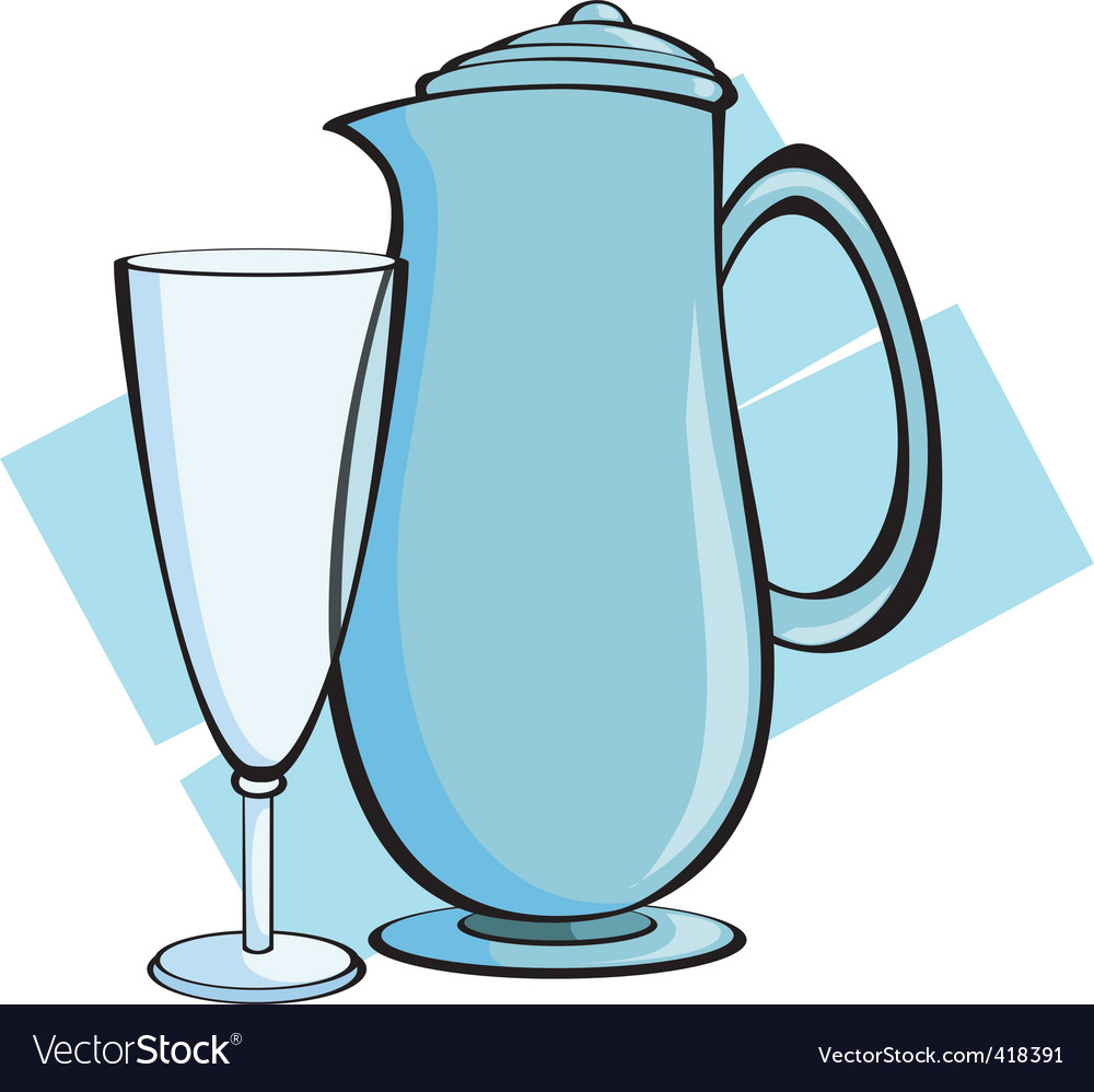 Jug and glass vector | Price: 1 Credit (USD $1)