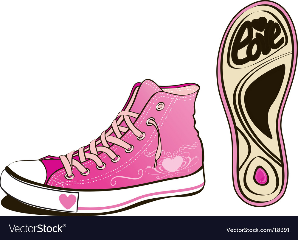 Love shoe vector | Price: 3 Credit (USD $3)