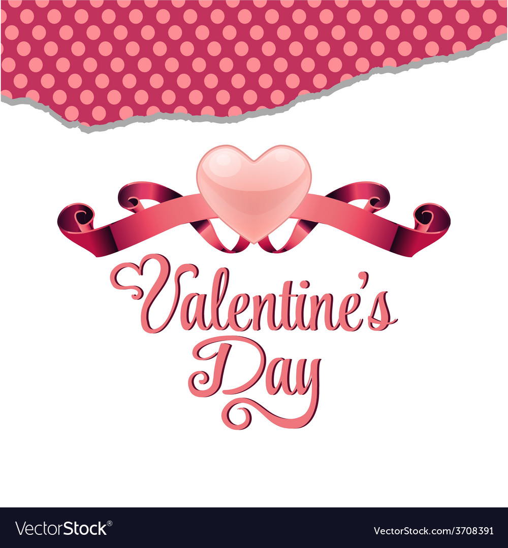 Valentines day greeting card vector   Price: 1 Credit (USD $1)