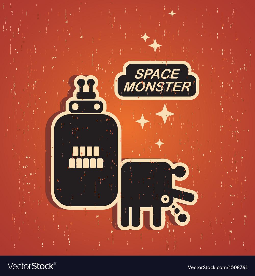 Vintage monster vector | Price: 1 Credit (USD $1)