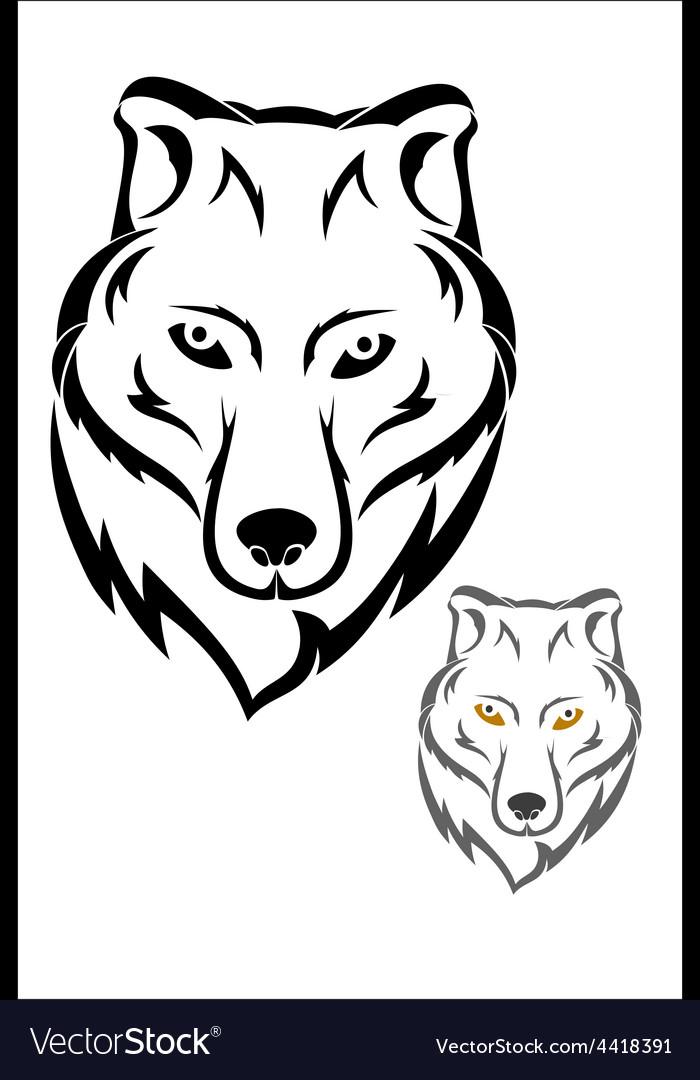 Wolf head symbol vector | Price: 1 Credit (USD $1)