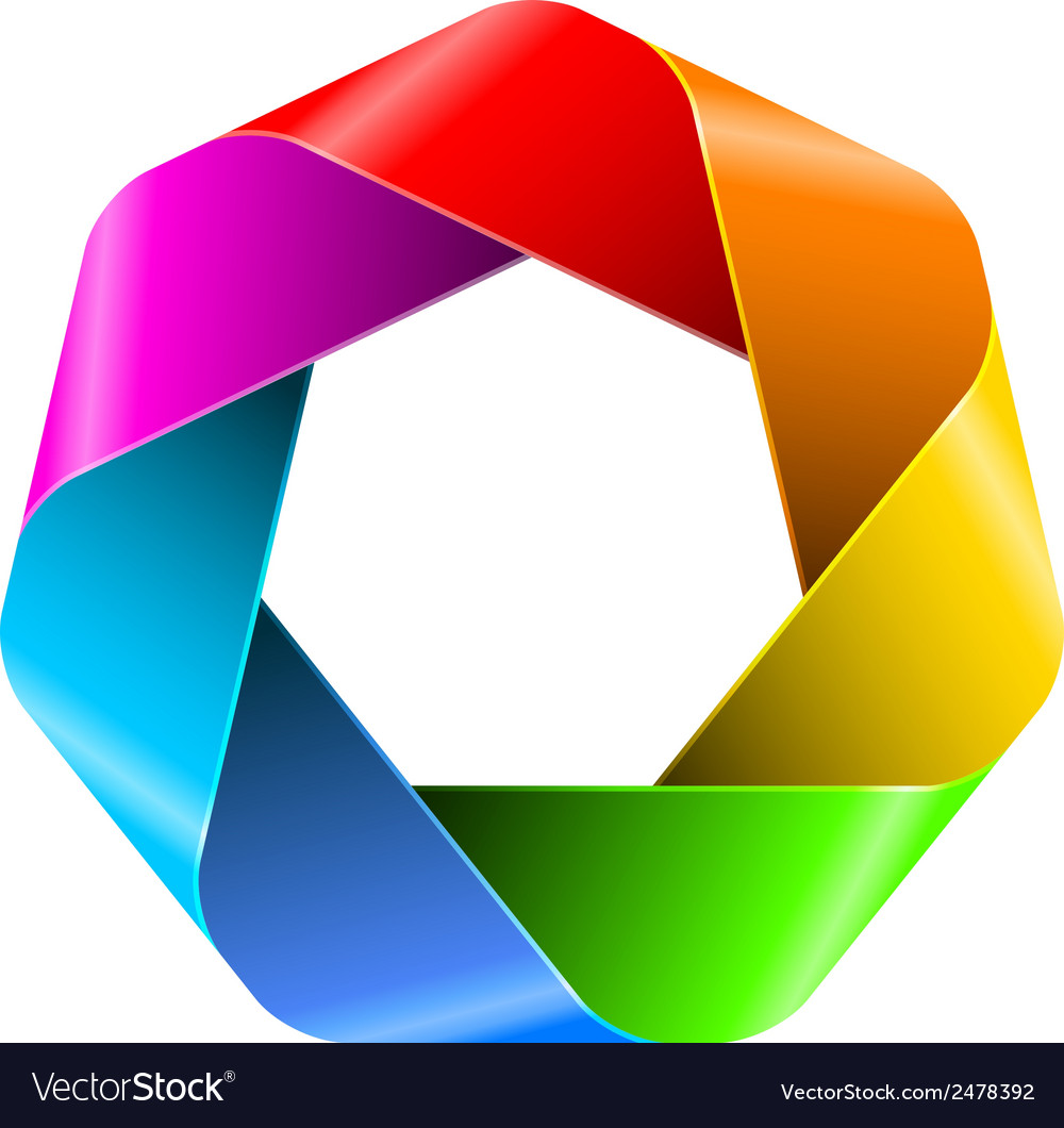 Abstract rainbow polygon icon for your design vector | Price: 1 Credit (USD $1)