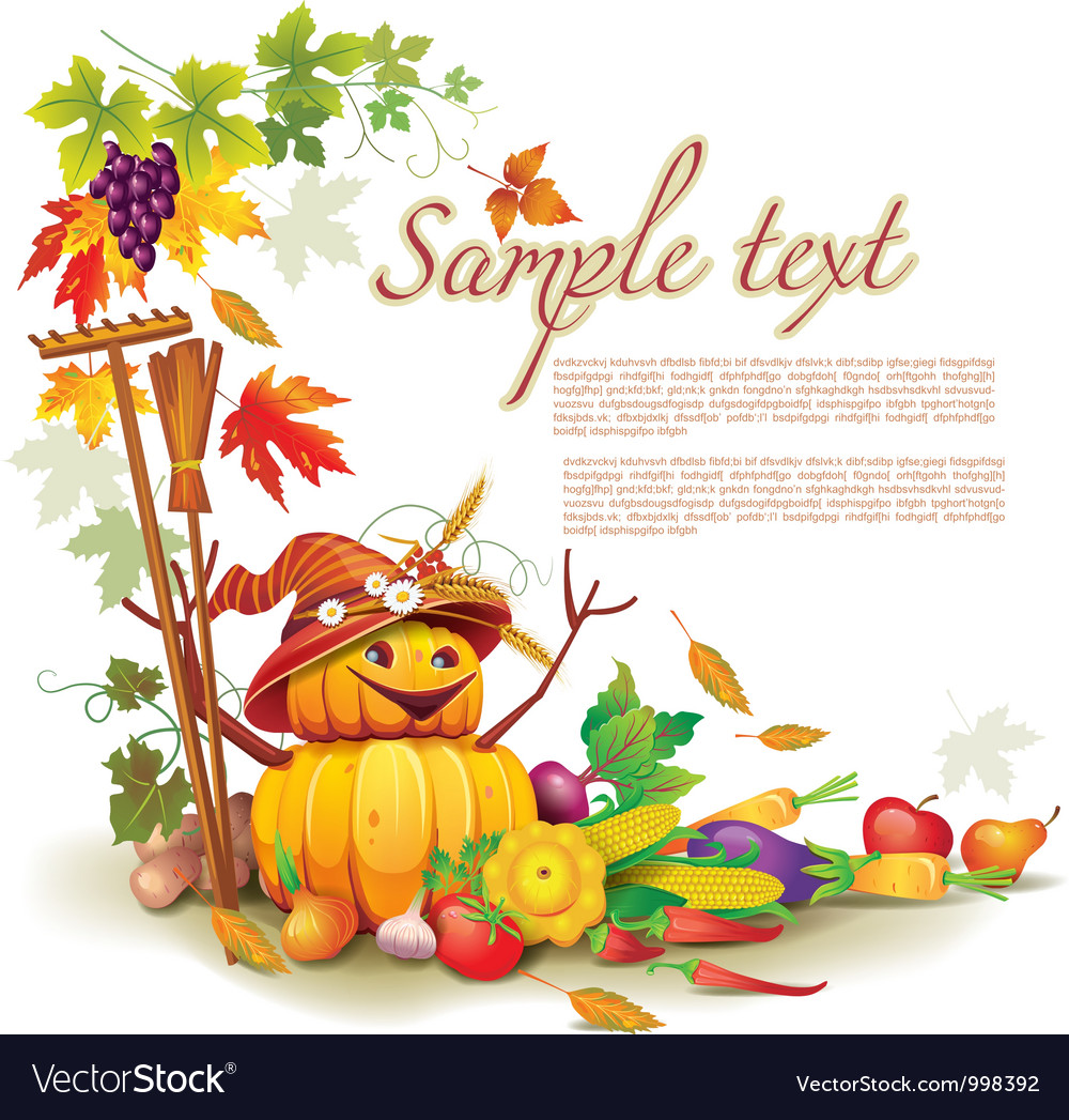 Autumn harvest vector | Price: 3 Credit (USD $3)
