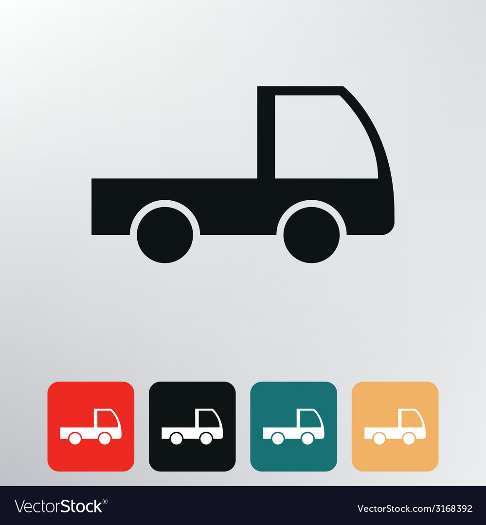 Cargo van icon vector | Price: 1 Credit (USD $1)