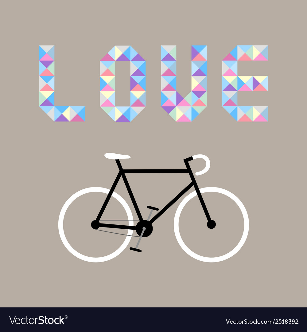 I love bicycle7 vector | Price: 1 Credit (USD $1)