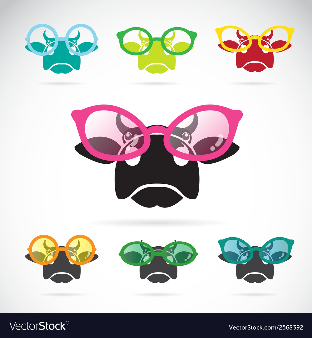 Images of cows wearing glasses vector | Price: 1 Credit (USD $1)