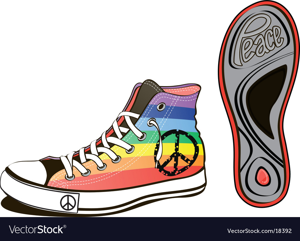 Peace shoe vector | Price: 3 Credit (USD $3)