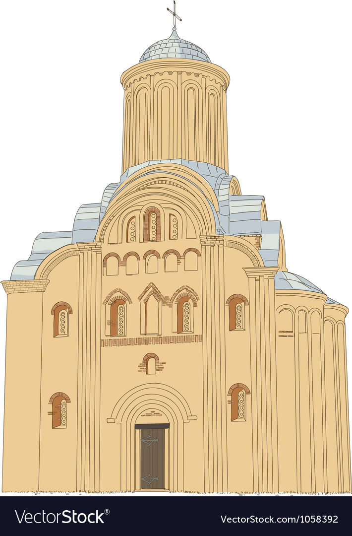 Pyatnytska church vector | Price: 1 Credit (USD $1)
