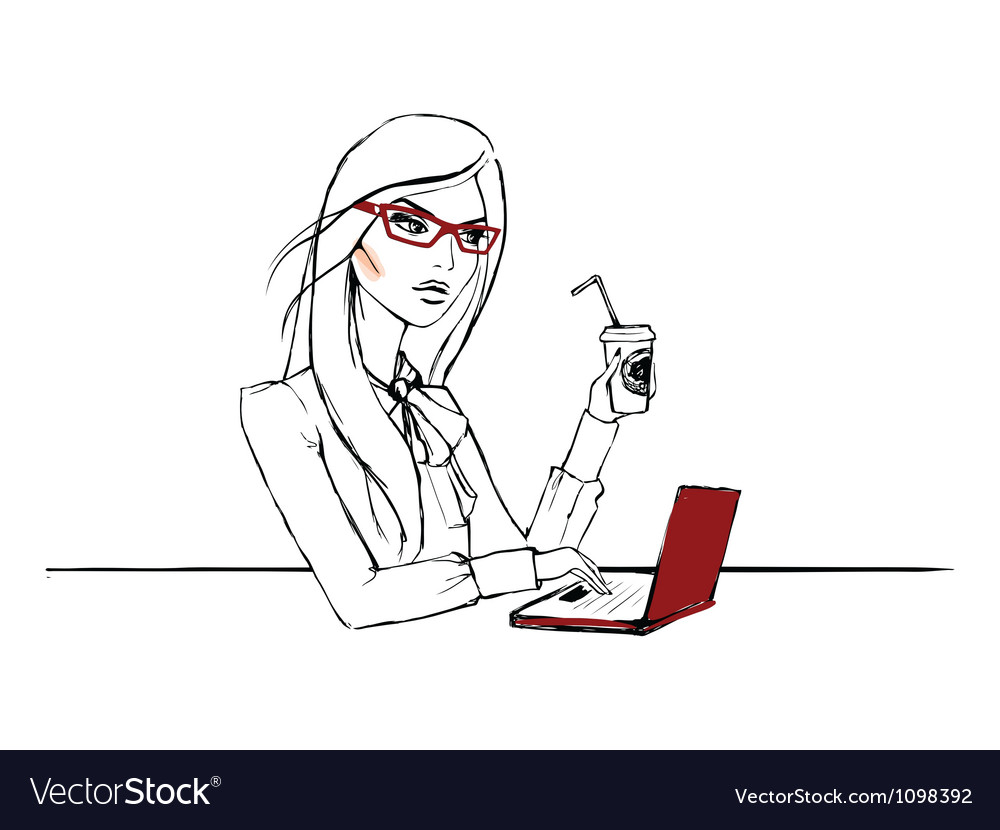 Working day of one nice woman vector | Price: 1 Credit (USD $1)