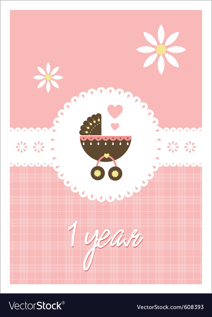 Baby card - girl vector | Price: 1 Credit (USD $1)