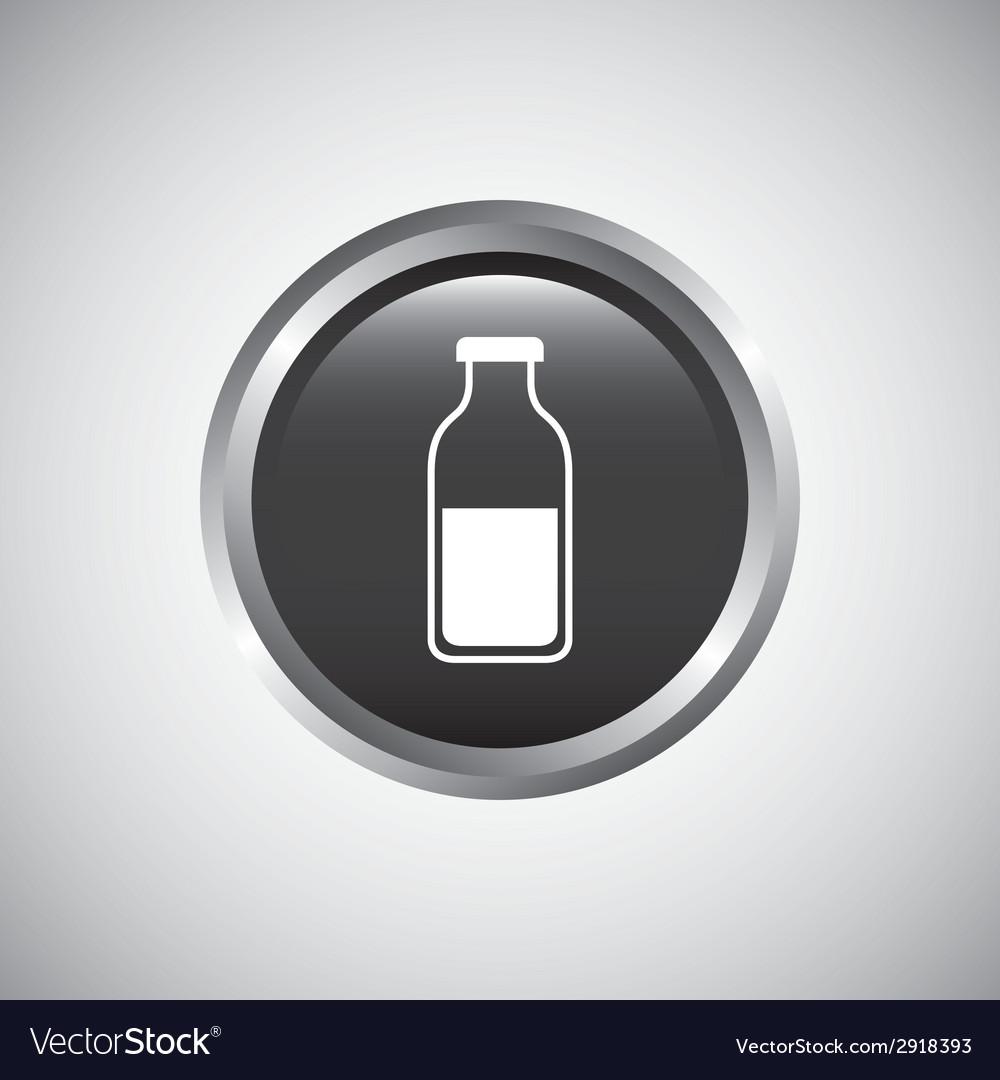 Bottle button design vector | Price: 1 Credit (USD $1)