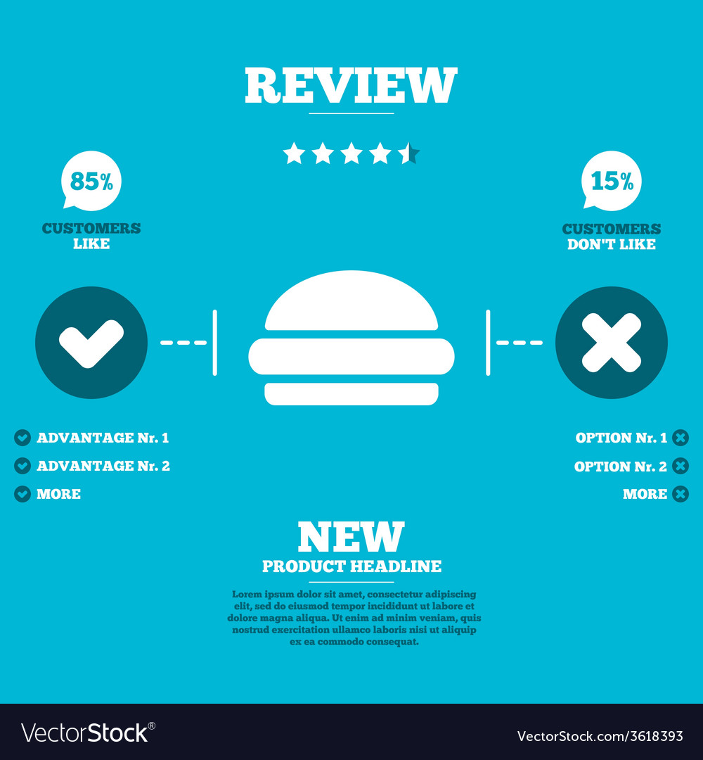 Hamburger sign icon fast food symbol vector | Price: 1 Credit (USD $1)