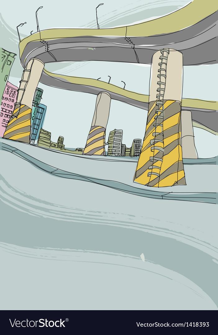 Highway background vector | Price: 1 Credit (USD $1)