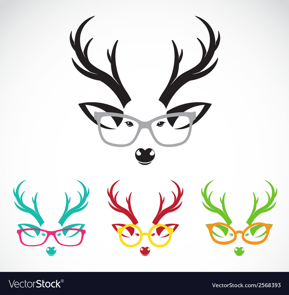 Images of deer wearing glasses vector | Price: 1 Credit (USD $1)