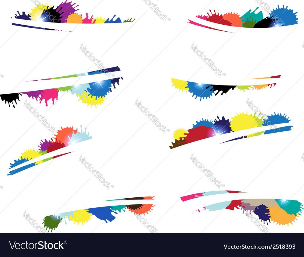 Multi colored blots vector | Price: 1 Credit (USD $1)