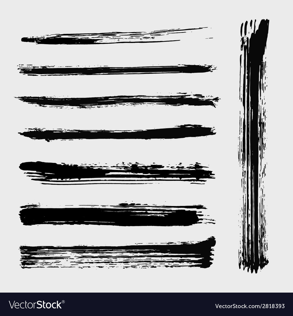Set of grungy brushes vector | Price: 1 Credit (USD $1)