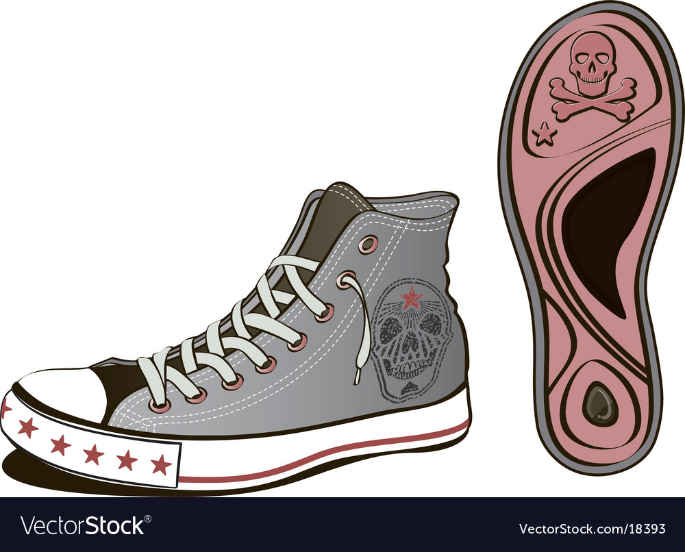 Skull shoe vector | Price: 3 Credit (USD $3)