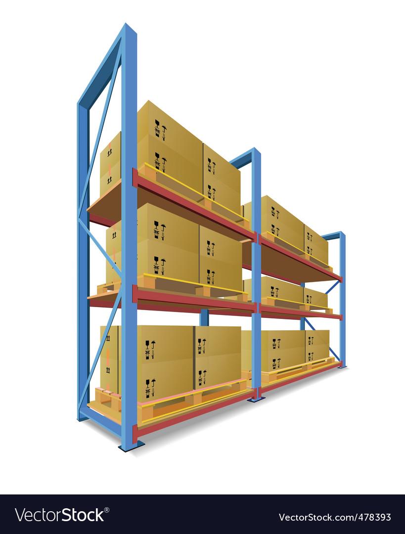Storage racks vector | Price: 1 Credit (USD $1)