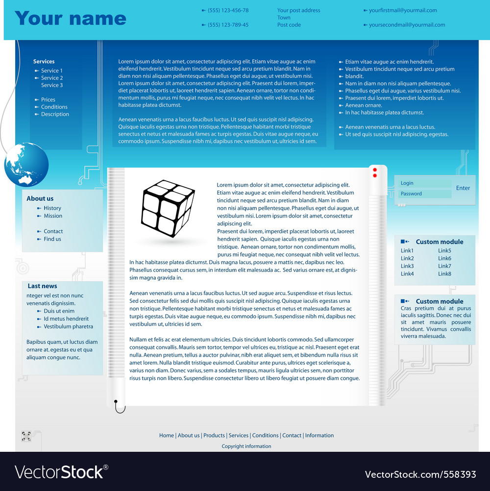 Web site design template vector | Price: 1 Credit (USD $1)