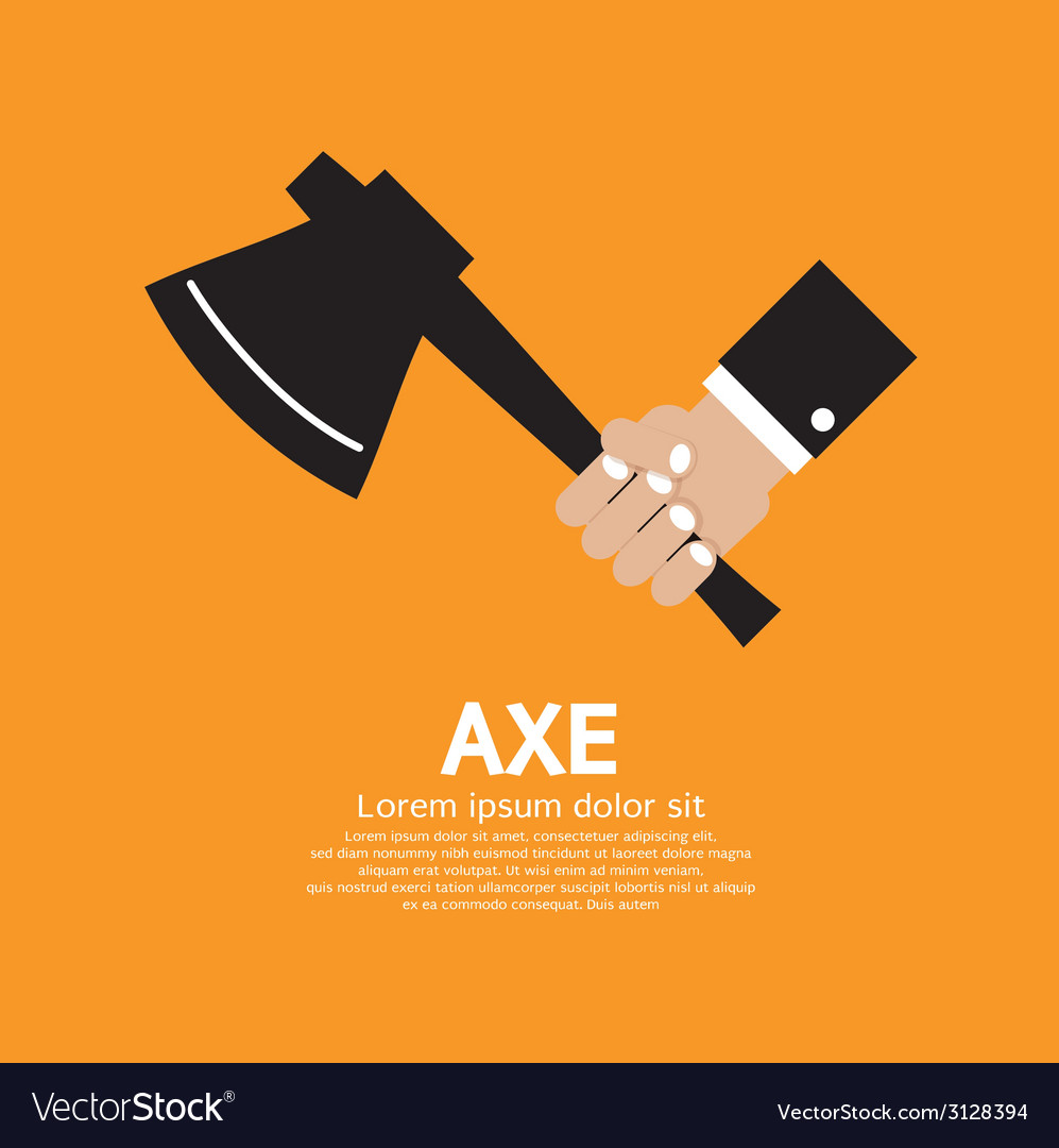 Axe in hand vector | Price: 1 Credit (USD $1)