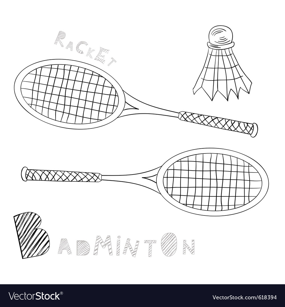Badminton vector | Price: 1 Credit (USD $1)