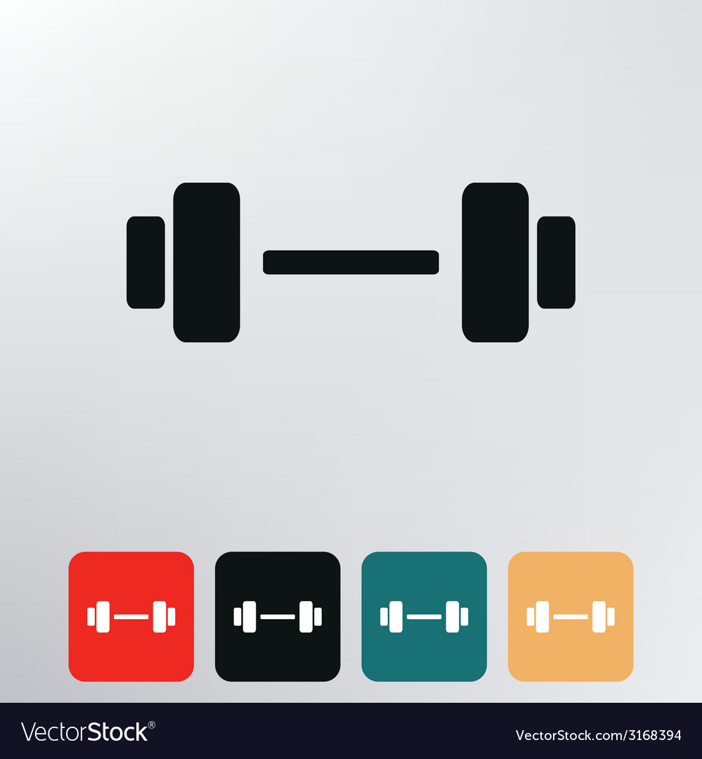Barbell icon vector | Price: 1 Credit (USD $1)