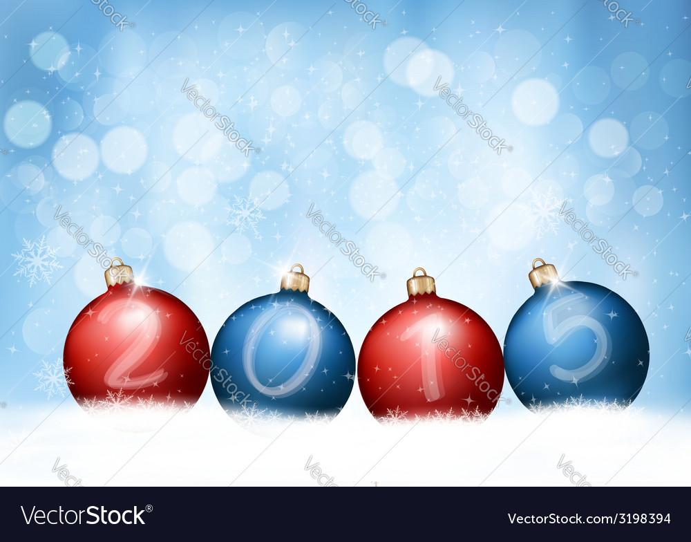 Christmas background with a 2015 made out of vector | Price: 1 Credit (USD $1)