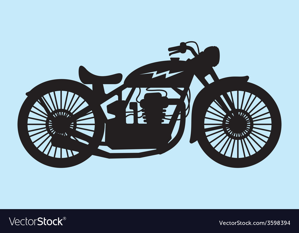 Classic motorcycle vector | Price: 1 Credit (USD $1)