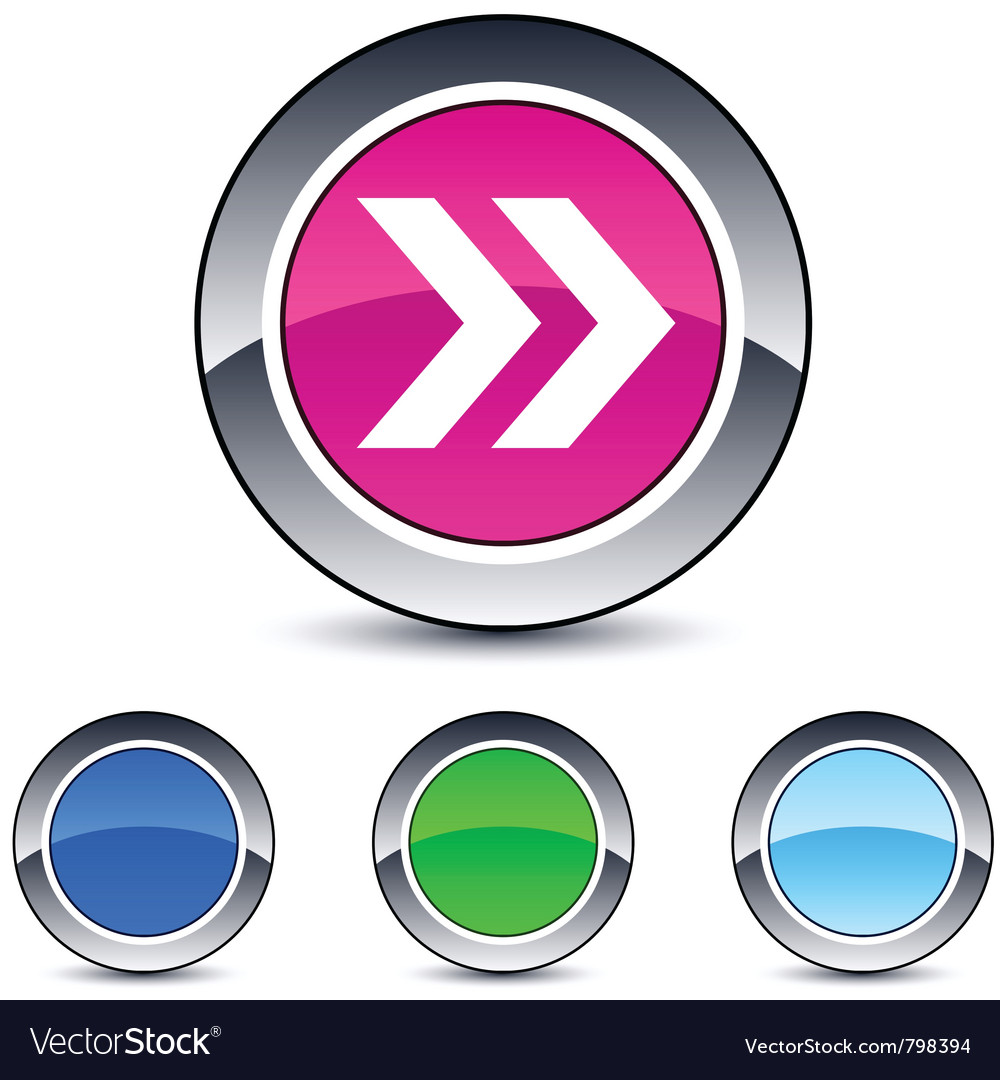 Forward arrow round button vector | Price: 1 Credit (USD $1)