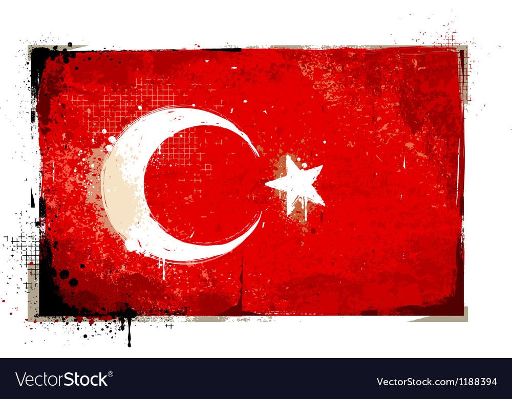 Grungy turkey flag vector | Price: 1 Credit (USD $1)