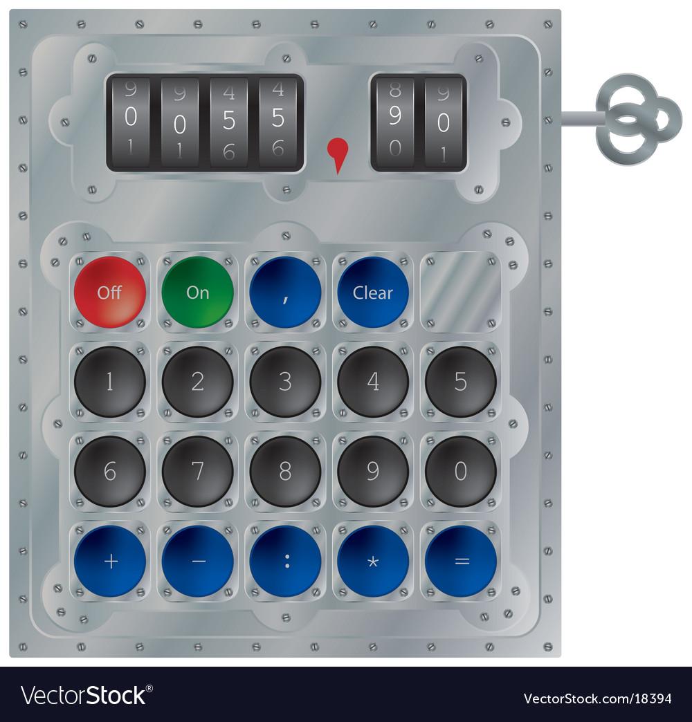 Mechanical calculator vector   Price: 1 Credit (USD $1)