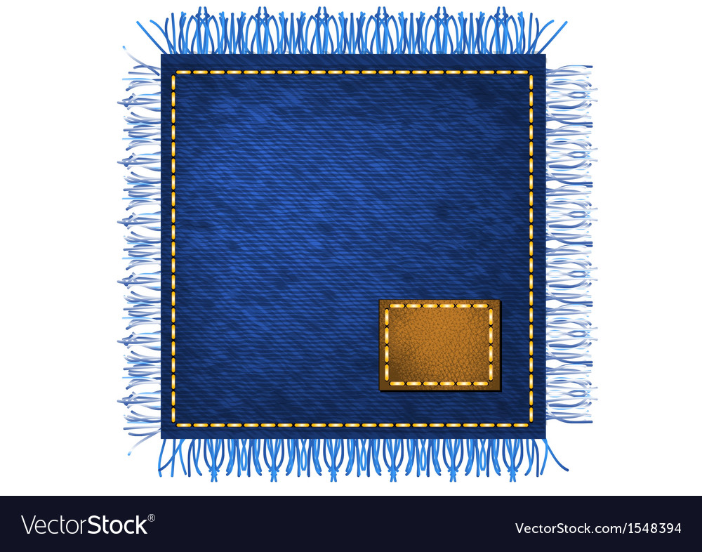 Napkin from jeans fabric vector | Price: 1 Credit (USD $1)