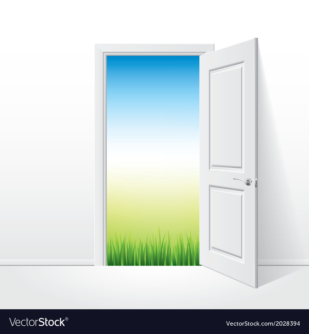 Object opened door grass vector | Price: 1 Credit (USD $1)
