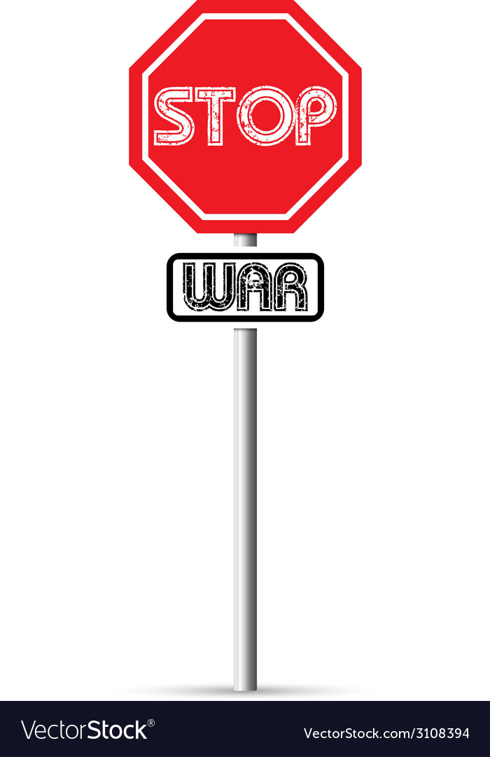 Stop war signs vector | Price: 1 Credit (USD $1)