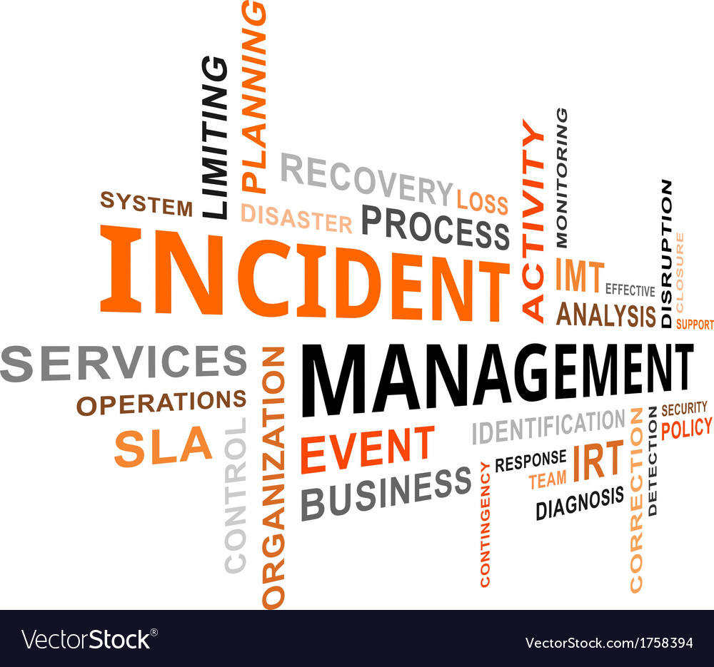Word cloud incident management vector | Price: 1 Credit (USD $1)