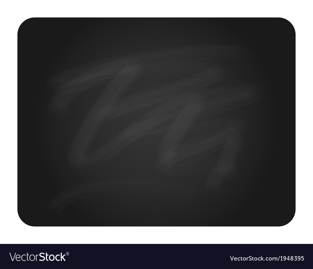 Black chalkboard with round corners vector