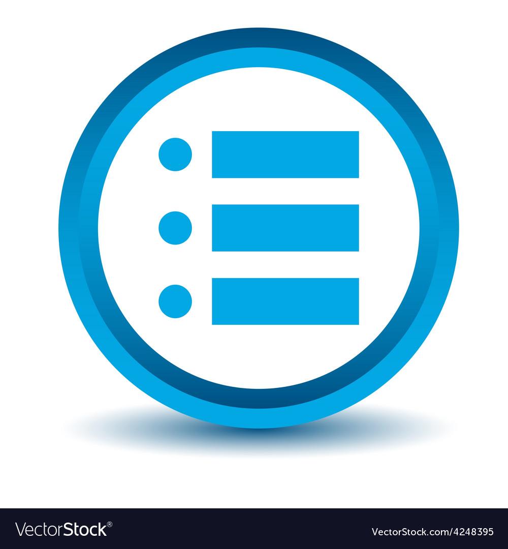 Blue list icon vector | Price: 1 Credit (USD $1)