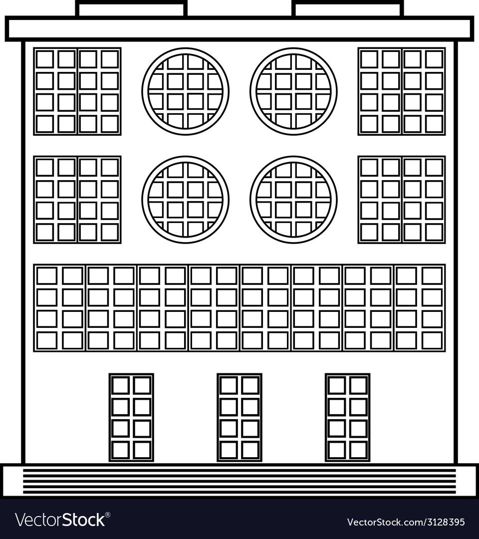 The building icon vector | Price: 1 Credit (USD $1)