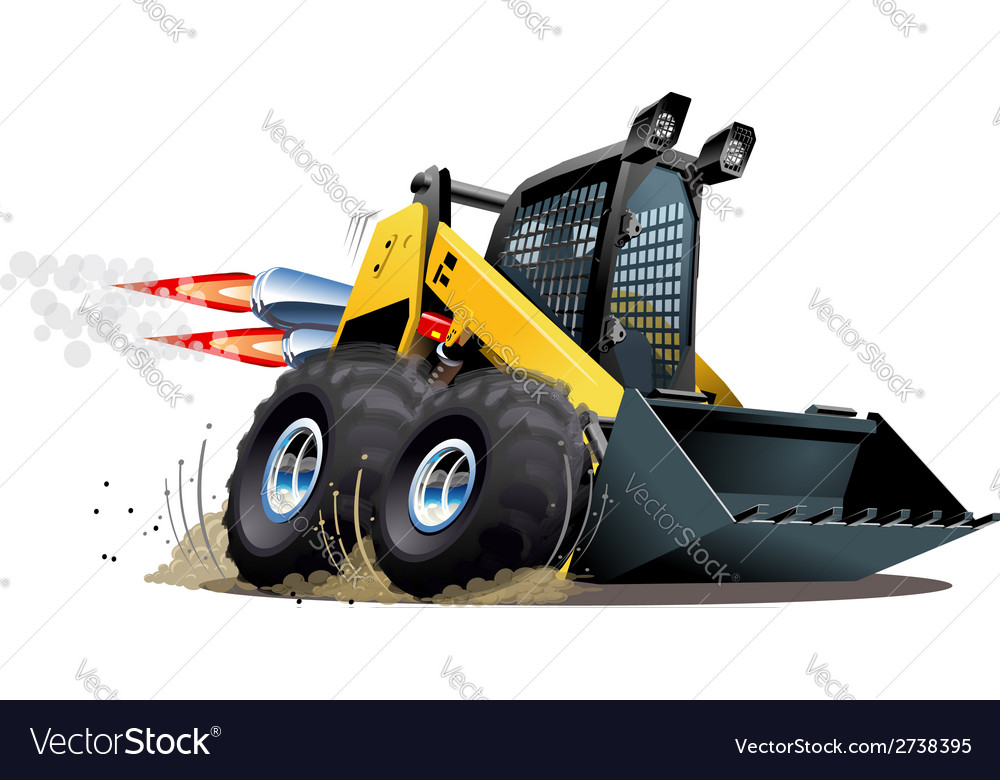 Cartoon skid steer vector | Price: 3 Credit (USD $3)