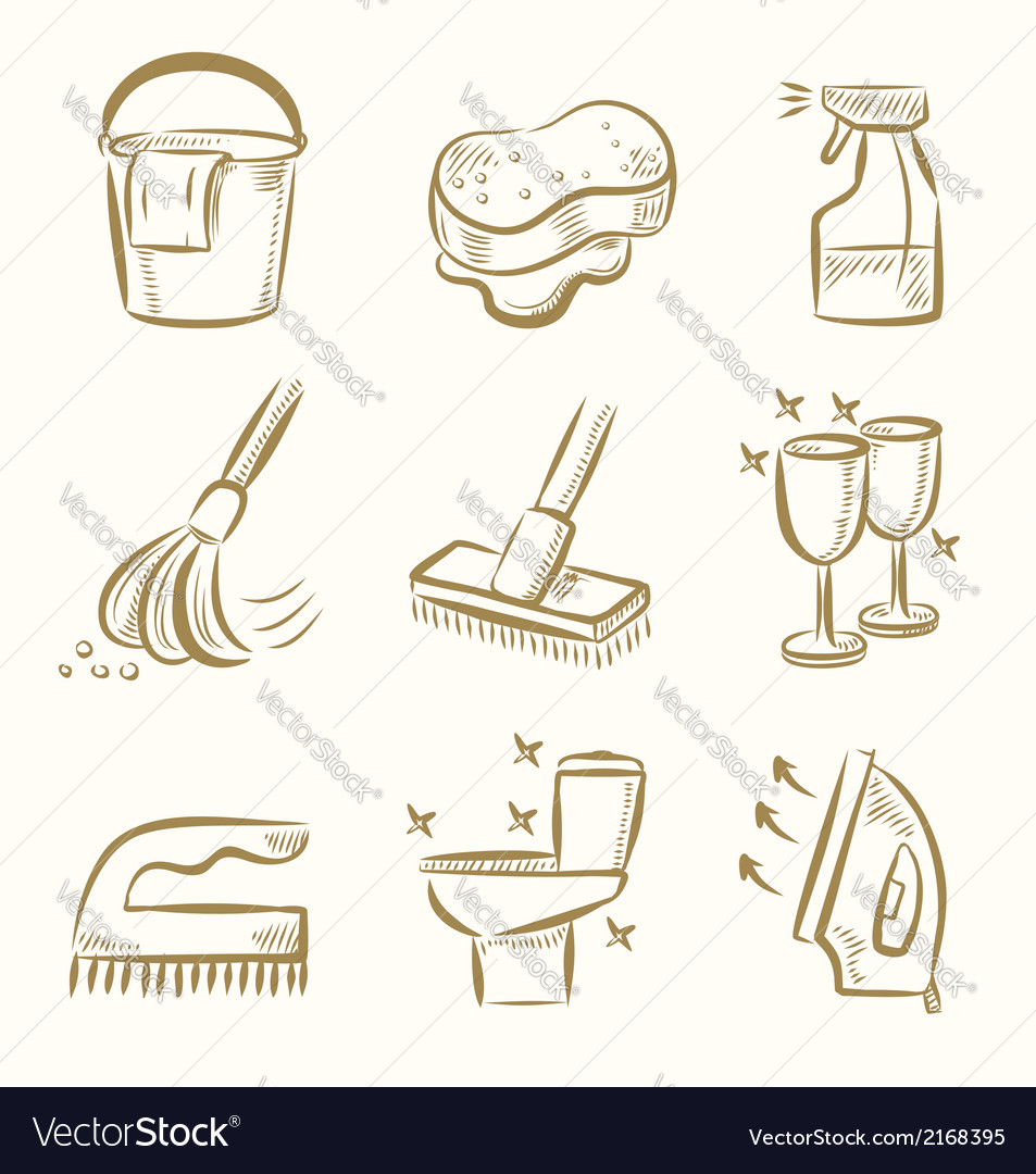 Cleaning icon set vector | Price: 1 Credit (USD $1)