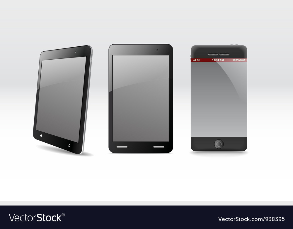 Modern gadgets vector | Price: 1 Credit (USD $1)