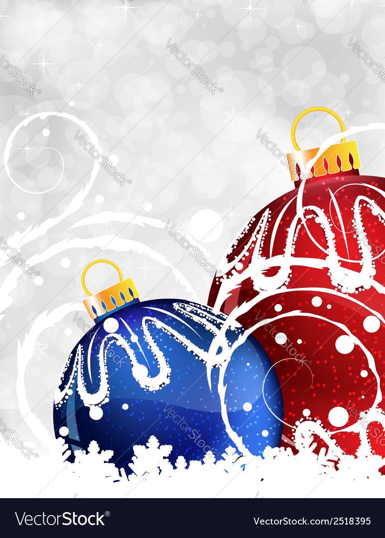 Red and blue christmas balls vector | Price: 1 Credit (USD $1)
