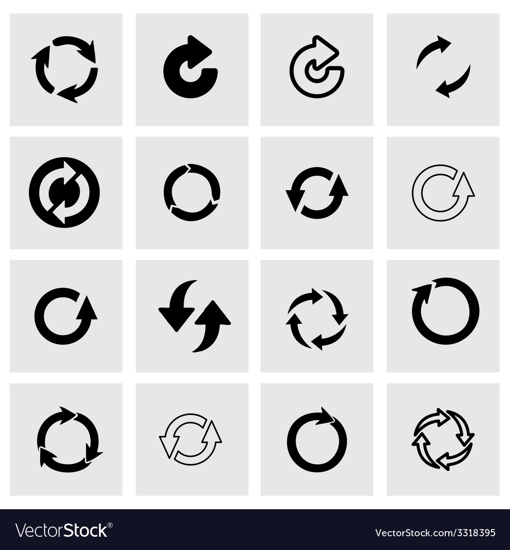 Refresh icon set vector | Price: 1 Credit (USD $1)