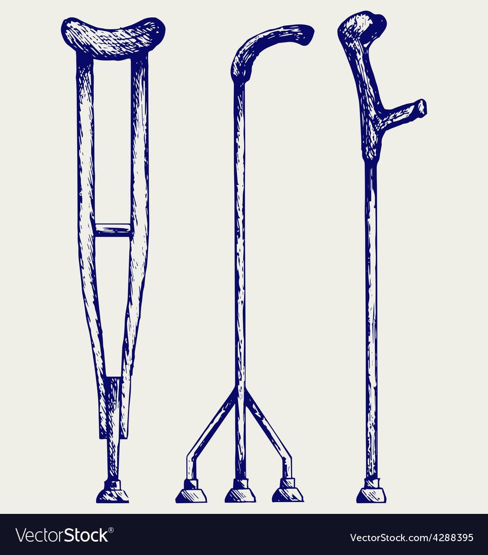 Set crutches vector | Price: 1 Credit (USD $1)