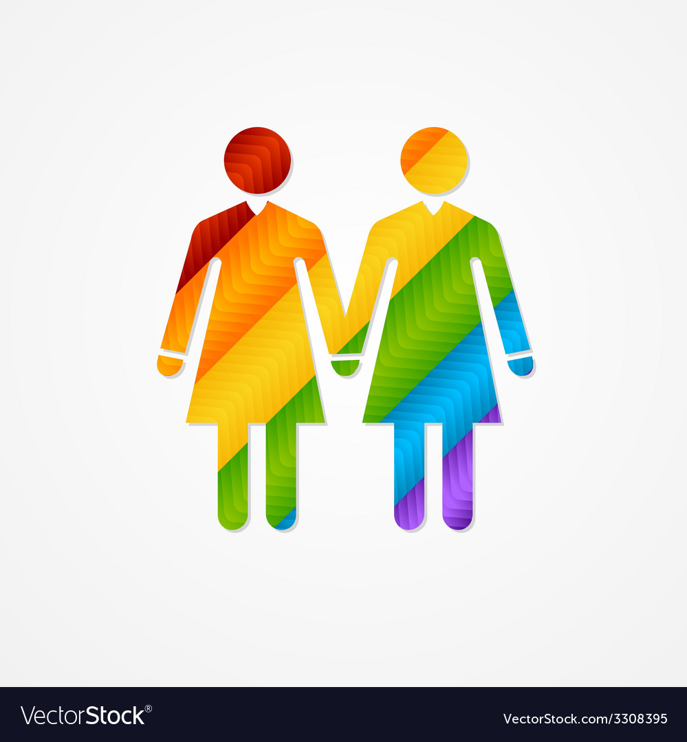 Sign of couple women lgbt card vector | Price: 1 Credit (USD $1)