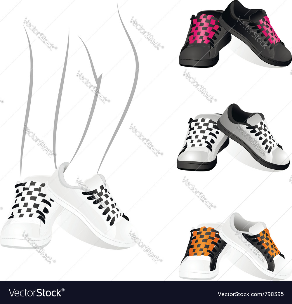 Stylish sports shoes vector | Price: 1 Credit (USD $1)